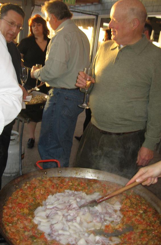 Paella 3-30-9 Stirring that Paella