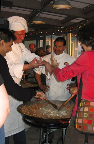Paella 3-30-9 chefs at work.