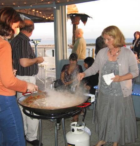 Paella 3-30-9 stirring